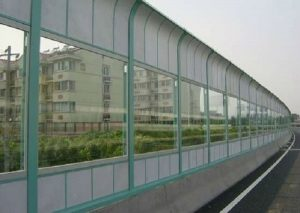 Metallic Noise Barrier with Transparent Element