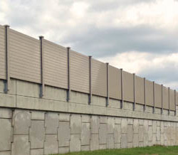 Highway Noise Barrier for Ecotone Systems