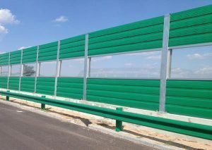 Metal Noise Barrier With Transparent Elements